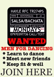 Salsa Bachata Men learn to dance