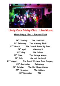 Lindy Cats Friday Club Live Music
